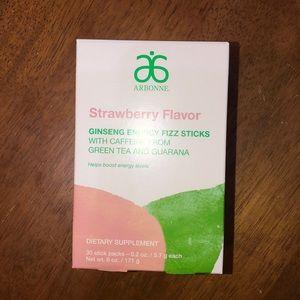 NWOT Arbonne Strawberry Flavor Fizz Sticks